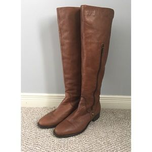 BROWNS dark-brown leather boots.